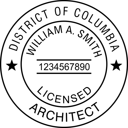 District of Columbia Architect Stamp Seal
