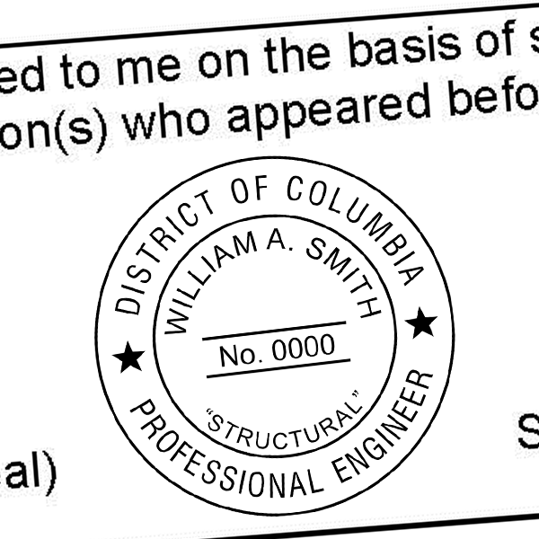 District of Columbia Engineer various discipline Seal Imprint