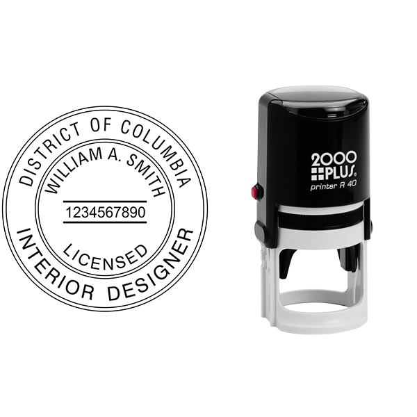 District of Columbia Interior Designer Seal Body and Design