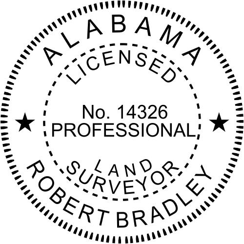 Alabama Land Surveyor Stamp Seal
