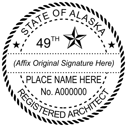 Alaska Architect Stamp Seal