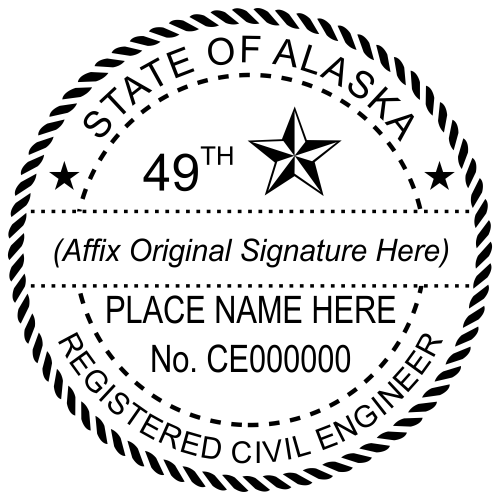 Alaska Civil Engineer Stamp Seal