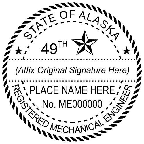 Alaska Mechanical Engineer Stamp Seal