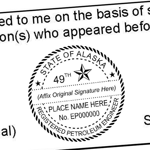 State of Alaska Petroleum Engineer Seal Imprint