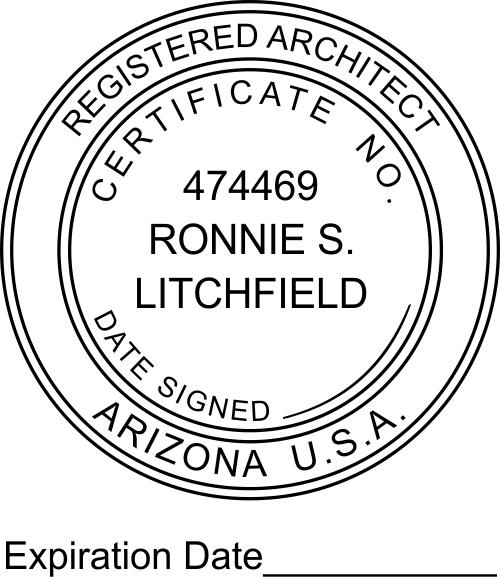 Arizona Architect Expiration Date Stamp