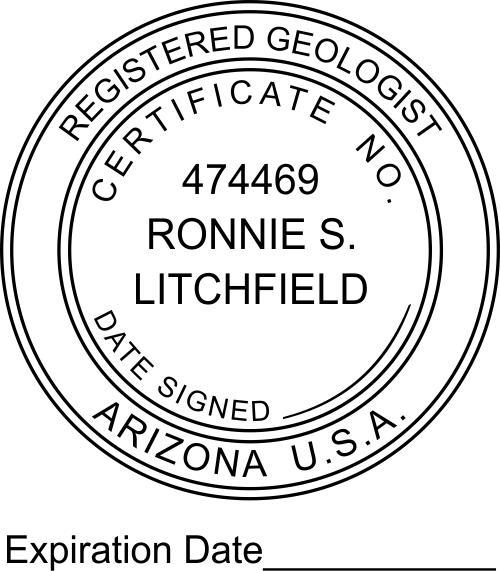 Arizona Geologist Expiration Date Stamp