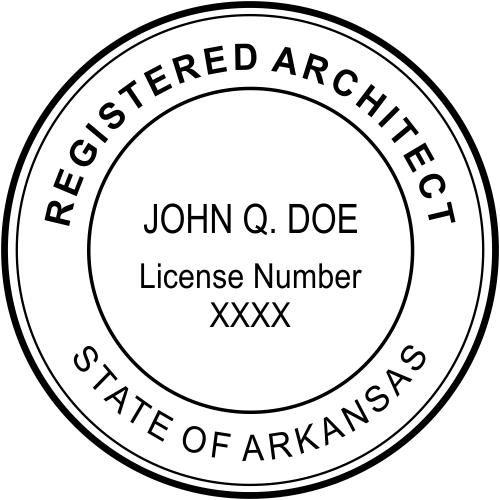 Arkansas Architect Stamp Seal