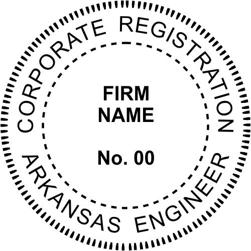 Arkansas Corporate Engineer Stamp Seal