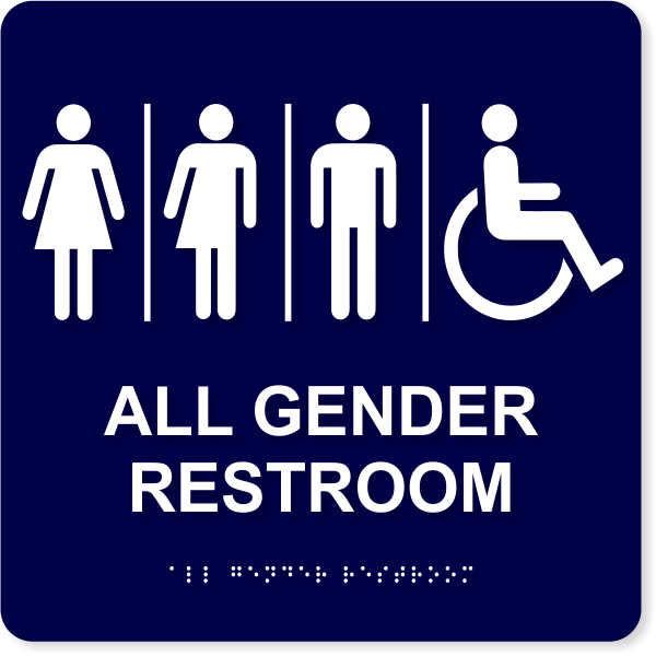 "All Gender Restroom ADA Sign | 10"" x 10"""