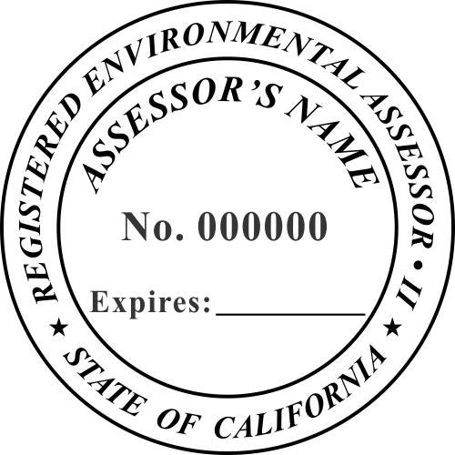 California Environmental Assessor Stamp