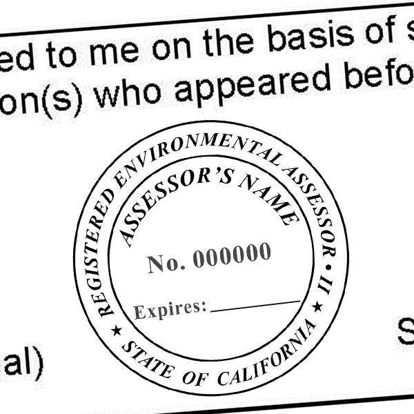 State of California Assessor Seal Imprint