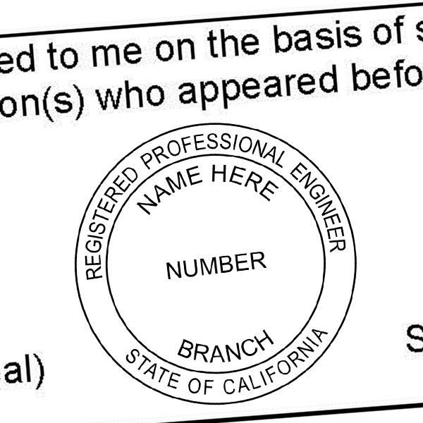 State of California Engineer Seal Imprint