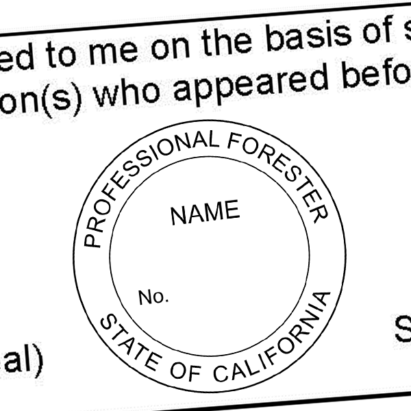 State of California Forester Seal Imprint