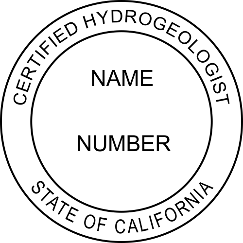 California Hydrogeologist Seal