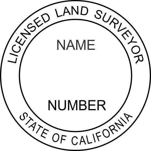 California Land Surveyor Stamp Seal