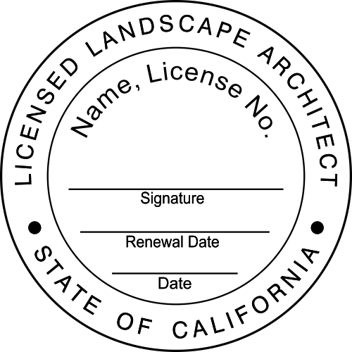 California Landscape Architect Seal
