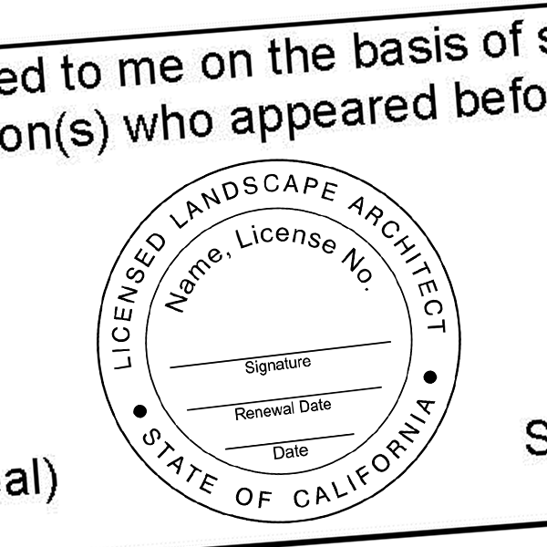 State of California Landscape Architect Seal Imprint