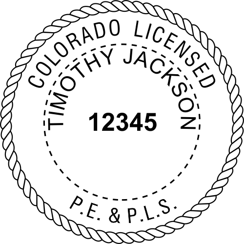 Colorado Pro Engineer & Land Surveyor Stamp Seal