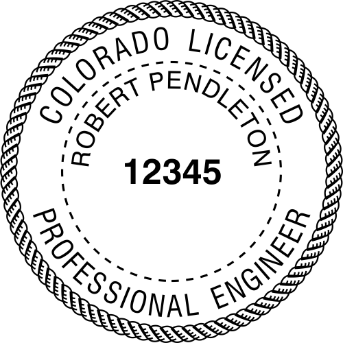 Colorado Engineer Stamp Seal
