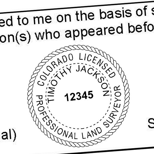 State of Colorado Land Surveyor Seal Imprint
