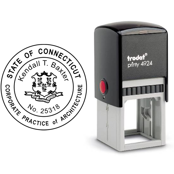 State of Connecticut Corporate Architect Seal Body and Imprint