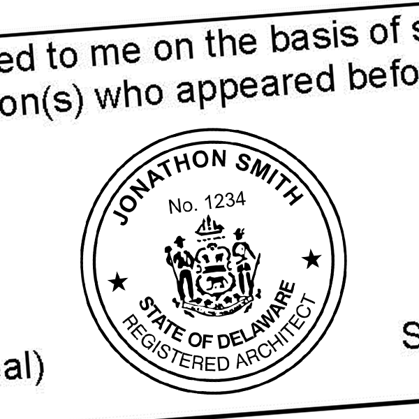 State of Delaware Architect Seal Imprint