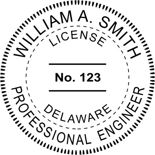 Delaware Engineer Stamp Seal