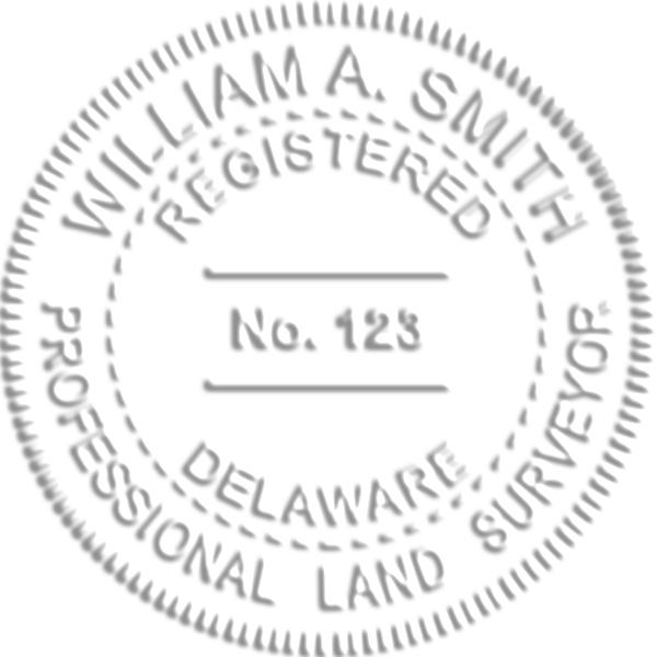 Delaware Land Surveyor Embosser Seal