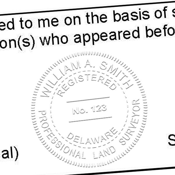 State of Delaware Land Surveyor Seal Imprint