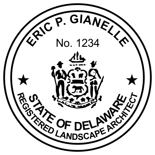 Delaware Landscape Architect Stamp Seal
