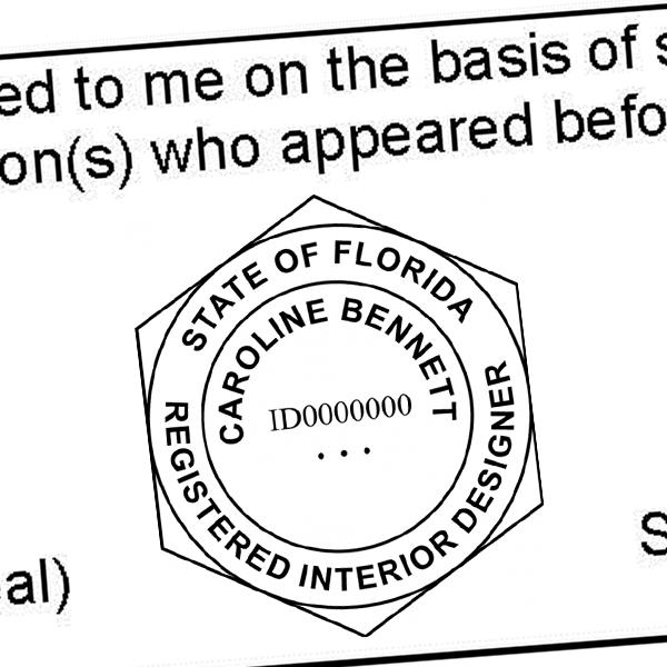 State of Florida Interior Designer Seal Imprint