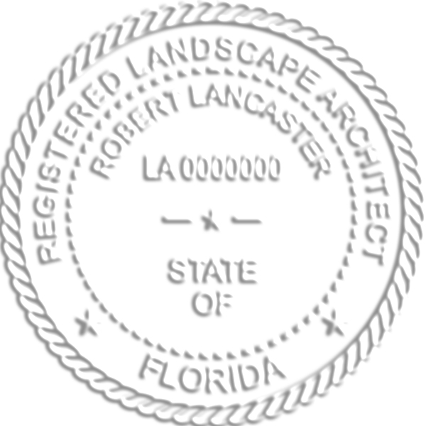 State of Florida Landscape Architect Seal Body and Imprint