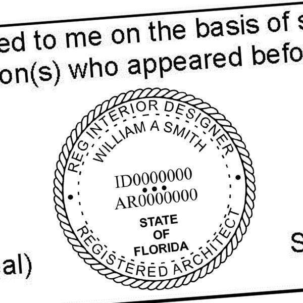 State of Florida Registered Interior Designer & Registered Architect Seal Imprint