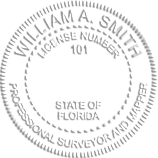 Florida Surveyor Mapper Embosser Seal