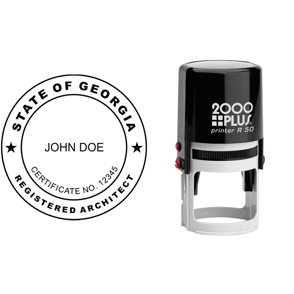 State of Georgia Architect Seal Body and Imprint