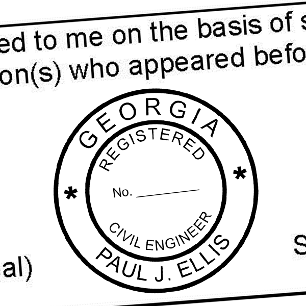 State of Georgia Engineer Seal (Various Discipline) Seal Imprint