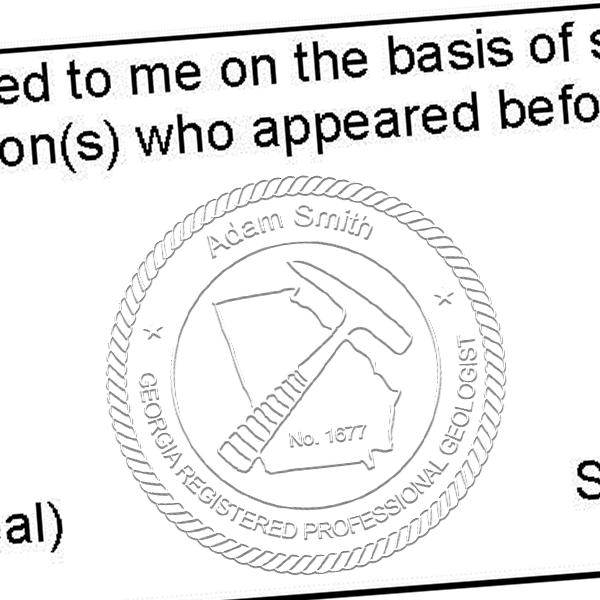 State of Georgia Geologist Seal Imprint