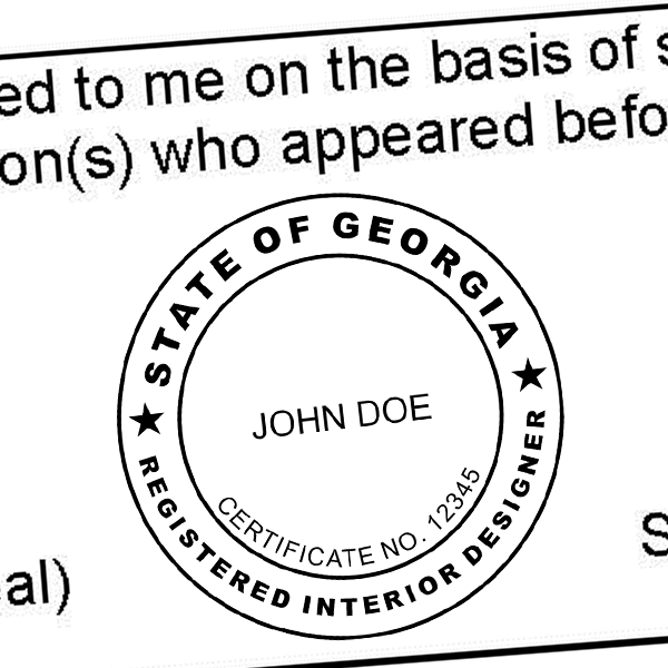 State of Georgia Interior Designer Seal Imprint