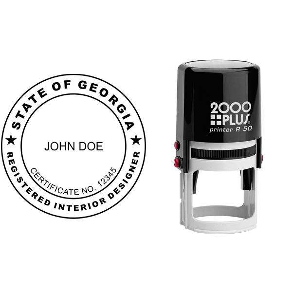 State of Georgia Interior Designer Seal Body and Imprint