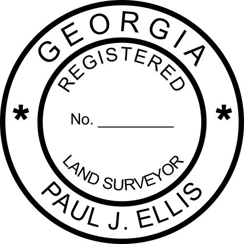 Georgia Land Surveyor Stamp Seal