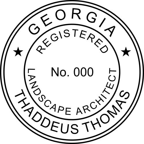 Georgia Landscape Architect Stamp Seal