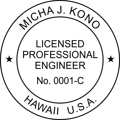 State of Hawaii Engineer