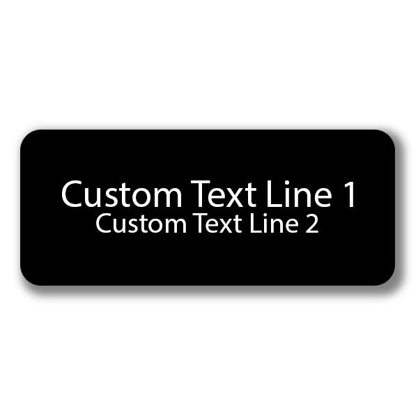 2 Line Laser Engraved Custom Name Tag