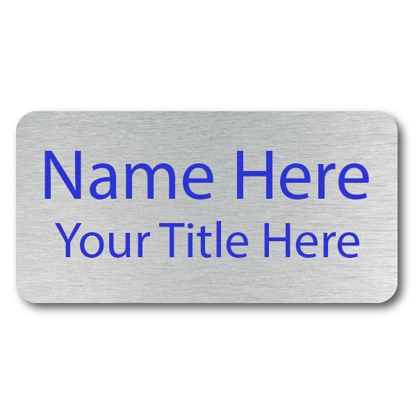 2 Line UV Printed Custom Name Badge