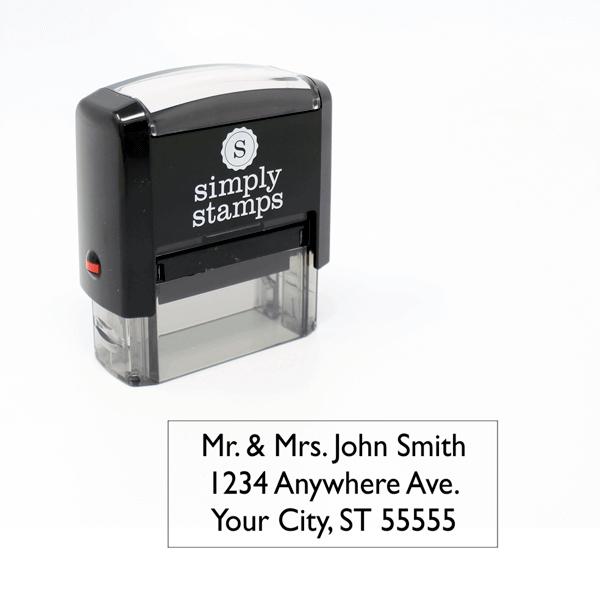 3 Line Address Self-Inking Stamp