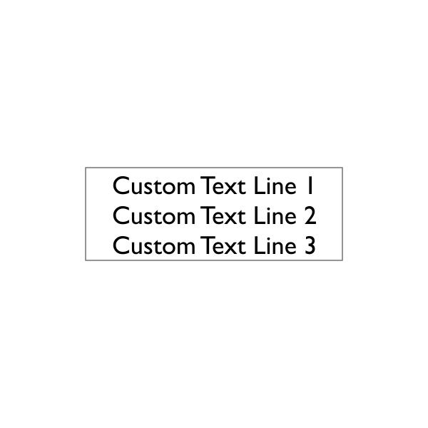 3 line Custom Stamp