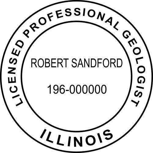 Illinois Geologist Stamp Seal