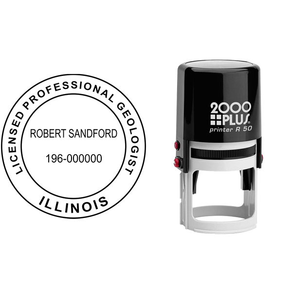 State of Illinois Geologist Seal Body and Imprint