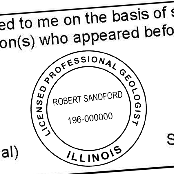 State of Illinois Geologist Seal Imprint