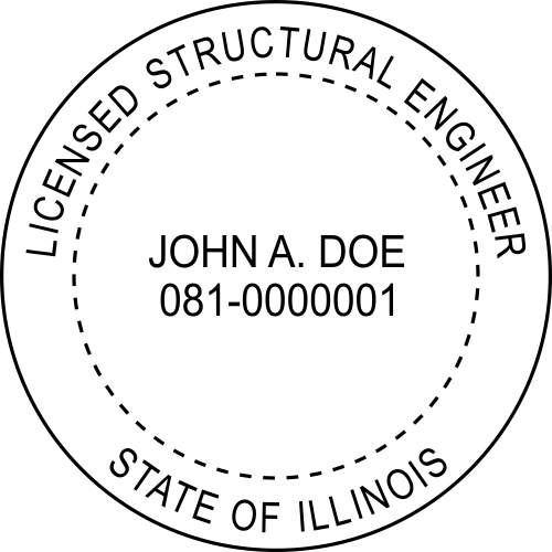 Illinois Structural Engineer Stamp Seal